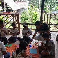 reading workshop with the Kocama indigenous community school